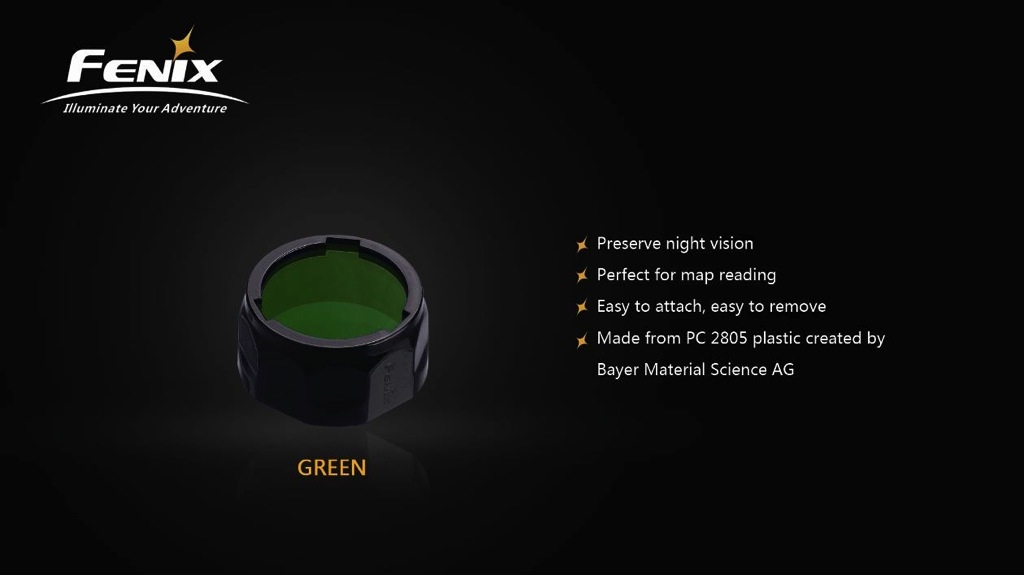 Fenix AOF-S+ Filter Adapter Small Green