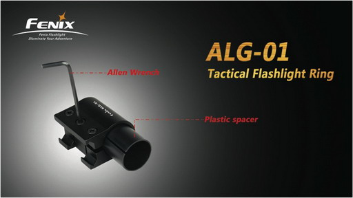 Picatiny Rail Tactical Flashlight Ring ALG-01