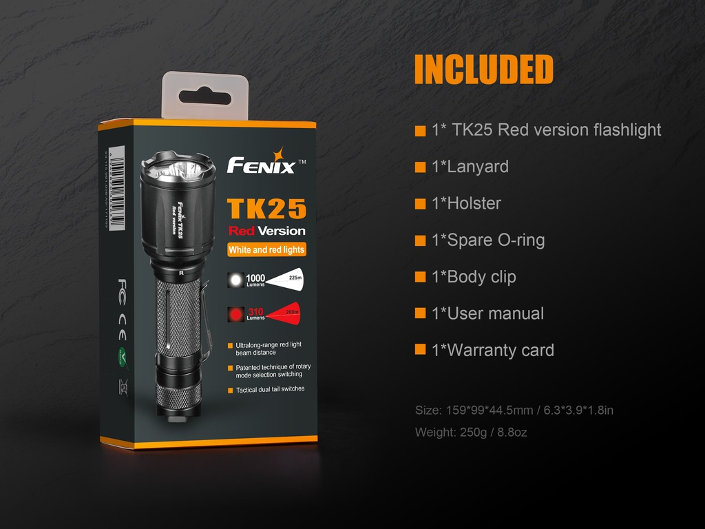 Fenix TK25RED